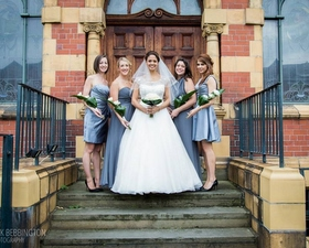 Bridesmaids Overarm designs of David Austin roses